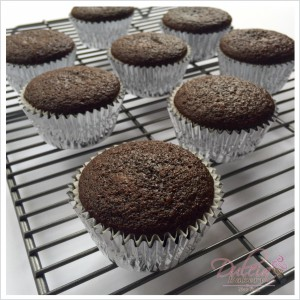 Chocolate stout and irish cream liqueur cupcakes