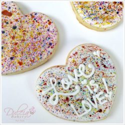 Spattered Heart Cookies