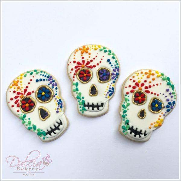 Galletas De Calaveras De Azúcar Día De Muertos Dulcia Bakery