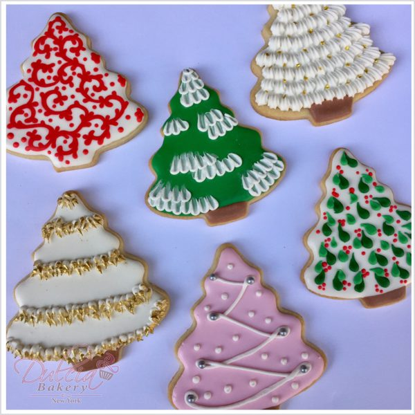 Six Different Ways To Decorate Christmas Tree Cookies Dulcia Bakery