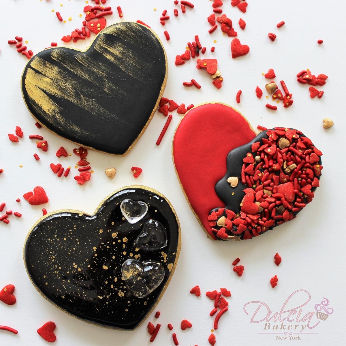 Galletas De Corazón Con Efecto Espejo