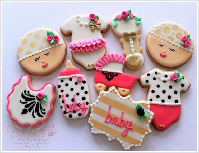 Galletas Decoradas Para Baby Shower De Niña Dulcia Bakery