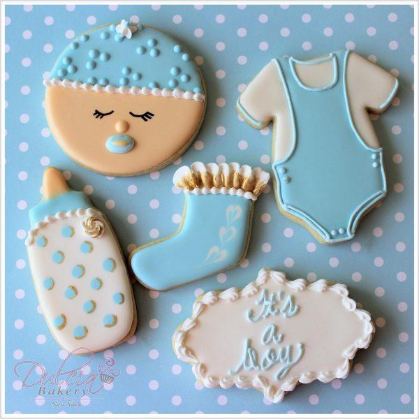 Baby Boy Shower Cookies Dulcia Bakery