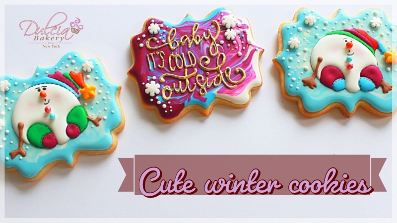 How To Decorate Cute Winter Cookies Dulcia Bakery
